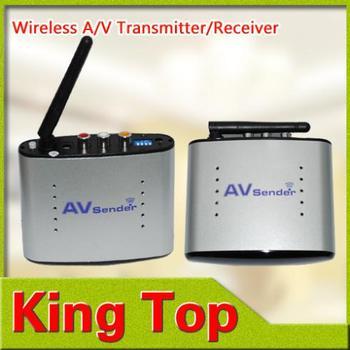 2Pcs PAT220 150m 2.4GHz Wireless AV Transmitter Receiver Audio Video Sender + IR Signal Extension Wire for TV Set box DVD IPTV