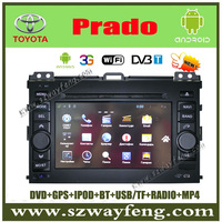 Android Toyota prado car DVD GPS Navigation with 512M RAM,Radio BT IPOD USB/SD+(Optional DVB-T, 3G ,Wifi ) +Free shipping!!!