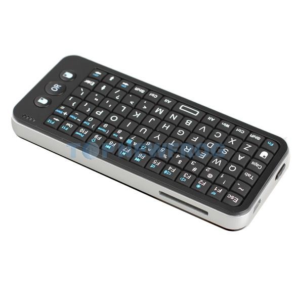 T2N2 Mini 2.4G Wireless Mouse Handheld Qwerty Keyboard GamePad Remote Control(China (Mainland))