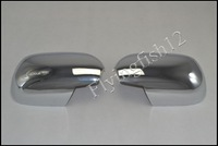 Free shipping! ABS chrome side door rearview mirror cover Trims for Toyota Land Cruiser Prado FJ120 2003-2009
