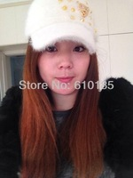 Leopard  RIvet Baseball Hat - Cap - Faux Fur Hat -  Winter new Fashion Style
