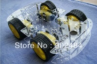 4WD Robot Smart Car Chassis kits car with speed encoder dc 3v 5v 6v for Arduino