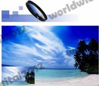 62mm Flower Camera Lens Hood Screw Mount Petal  &  Graduated Grey ND Lens Filter Round Screw Mount