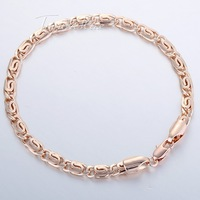 5mm  18K Rose Gold Filled GF BRACELET Snail Chain  Bracelet  Womens Mens Chain Bracelet Wholesale bulk price GB179