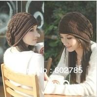 Unisex Wool Winter Crochet Knit Beanie Skullcap Hat 1pcs free shipping ----warm in winter