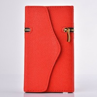 Fashion Pure Flip Wallet Card Slot Belts Zipper Stand Leather Cases Cover For Samsung Galaxy Note 2 II 3 N7100 N90000 Purse N405