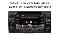 Pure Android Car DVD GPS Navi Headunit for Old Ford Focus Mondeo Fiesta Transit S-Max C-Max (2005-2009)  1080P Virtual 20-CD