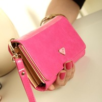 NEW 2013  Korean cute multifunctional wallets PU leather candy color women phone holder wallets lady purse 17.5*8.5 cm