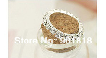 10pcs lot Single Row 1 row Rhinestone Stretchy Rings Toe Ring Clear