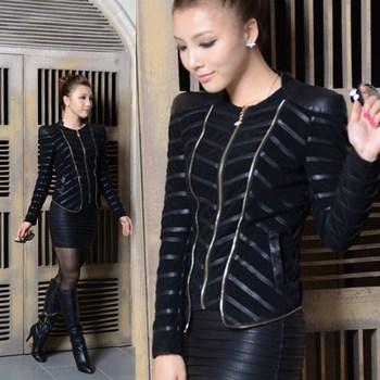 Женщины leather jacket 2013 spring and autumn Женщины motorcycle Кожа PU является ...