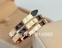 Min order $25(mix order) 2013 new arrival rose gold plated threee turn snake bracelet,charming bracelet for women and men