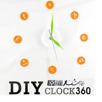 Fashion brief diy alarm clock diy alarm clock  creative fashion  clocks home decoration alarm clock living room clocks alarm