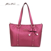 Kckc 2013 fashion geometry embossed genuine leather handbag shoulder bag messenger bag