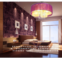Chinese modern style fabric ceiling light romantic 4 lamps wire lighting