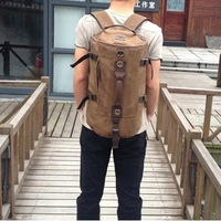 Multifunctional Travel portable shoulder diagonal shoulder canvas sports bag backpack production plants drums Men