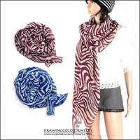 New Fashion Accessories Zebra Scarves Muffler spring Autumn shawl scarf for women nice gift wholesale