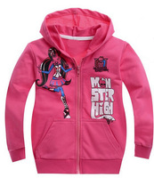 Wholesale,new 2013,autumn,winter clothing,monster high fashion girls clothes,baby,children hoodies,children outerwear