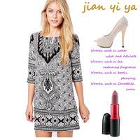 2013 One-piece Dress Paisley Decorative Pattern Half Sleeve One-piece Dress Vintage National Trend Dress