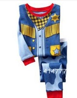 Retail Children's Clothing Sets Full-sleeve pajama suits casual character superman Sleepwear B19 2T-7T
