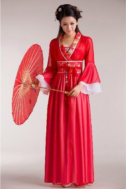 Women Costume Fairy Ancient Princess Classical Hanfu Chinese Folk Dance Traditional Costume ...