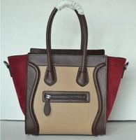 [Best discount!!]world fashion ladies hand bag women package imitation wax medium big design genuine leather brand bag
