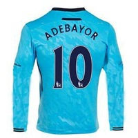 13/14 Tottenham Hotspur away long sleeve #10 Ador Jerseys Blue Soccer Uniforms 2013-14 Cheap Football kit free shipping