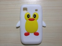 case for samsung i9100 ,cute cartoon Penguin soft silicone drop resistant  skin case for sansung i9100 ,free shipping