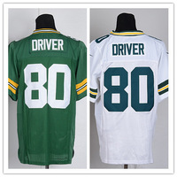 Free Shipping Cheap Elite American Football Jersey Packers #80 Donald Driver Jersey Embroidery Logo Mix Order size M-XXXL