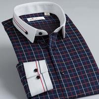 Deep sea deepocean 2013 bordered shirt male long-sleeve business casual plaid shirt
