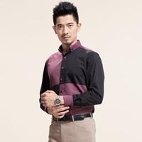 Deep sea deepocean fashion shirt male black long-sleeve patchwork easy care 2013 trend