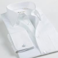 Deep sea french cufflinks slim shirt male white stripe long-sleeve dark 100% cotton shirt male business casual men's clothing