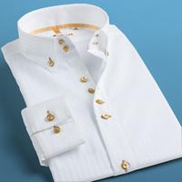 Deep sea deepocean brief elegant shirt male long-sleeve oblique stripe slim fashion men's clothing