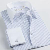Deep sea deepocean french cufflinks shirt male long-sleeve multicolour stripe 100% men's cotton clothing