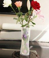 2014 Real Vaso Wedding Decoration Crafts New 27*12cm Magic Delicate Foldable Folding Pvc Vase & Color And Design Send By Random