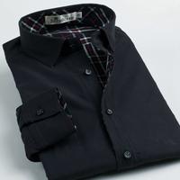 Deep sea thermal shirt long-sleeve male jacket male reversible shirt 100% cotton slim easy care men's clothing