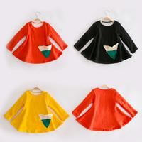 Children's clothing winter thickening 2013 plus velvet female child basic shirt bottom thermal expansion child long-sleeve