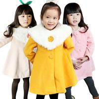 Children's clothing winter 2013 princess medium-long woolen female child outerwear child overcoat the disassemblability maomao