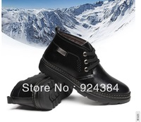 2013 new, winter, men, 100% genuine leather boots, plus velvet warm, apartments, leisure, cheap snow boots, free shipping,
