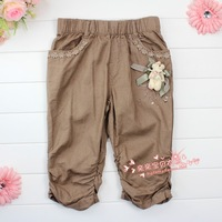 Danny BEAR children's clothing female child summer child casual capris pants basic capris