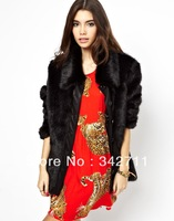 Europe new winter vest short paragraph coat faux fur collar waistcoat