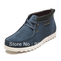 2013 new, men, 100% natural leather, plus velvet warm, snow boots, men leather boots, free shipping