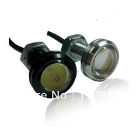2pcs *  Car Motorcycle 9W LED Eagle Eye Backup Light DRL Running Lamp Black/silver