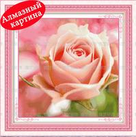 Free shipping DIY diamond painting diamond cross stitch kit Inlaid decorative painting pink rose DM110331
