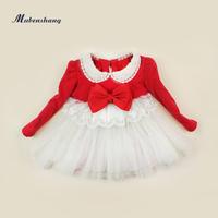 2013 children's clothing winter plus velvet thickening female child princess dress baby winter dress pearl yarn one-piece dress