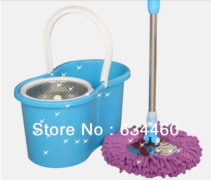 housekeeping super mop hand pressure rotating mop magic mop swob &Free shipping(China (Mainland))