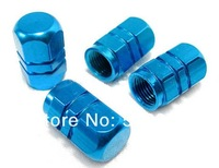 4pcs in a set! 200Sets a lot! Aluminium Metal dice Bike Car Tyre Valve Dust Cap Covers air cap red gold silver blue