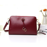 2013 leather bag gentlewomen vintage small bag double zipper genuine leather shoulder bag cross-body women's handbag