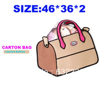Free shipping wholesale gismo 3d handbag Trip bag style Mix Order 3d cartoon bag carry in space bag hot-selling
