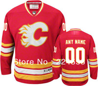 Custom Red/White Calgary Flames Jerseys personalized - Wholesale Cheap Blank Jersey or Customized Any Number & Nane Sewn On