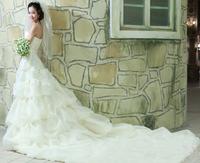 2014 sweet vintage bandage tube top wedding dress princess big train wedding dress